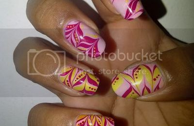 Water Marble Rose et Jaune
