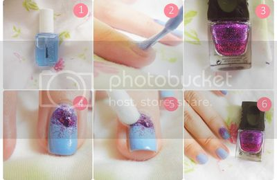 When life sucks put on some glitter - nail design tutorial