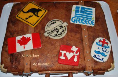 Gâteau valise - Travel bag cake