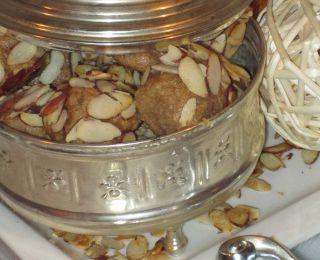 Bouchées à l ambre et au beurre d amandes