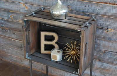 table de chevet style industriel (tutoriel gratuit - DIY)