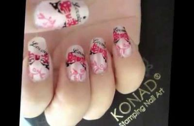 Video et pas à pas Konad Stamping Nail Art