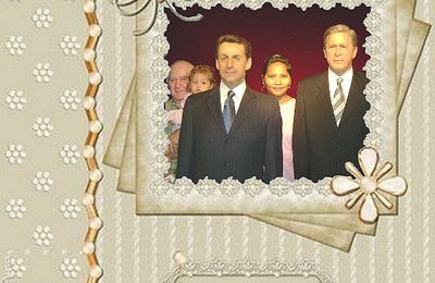 Musée Grévin avec Nicolas Sarkozy ey George Bush