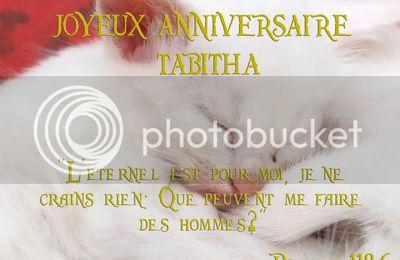 Joyeux anniversaire Tabitha mon trésor!!