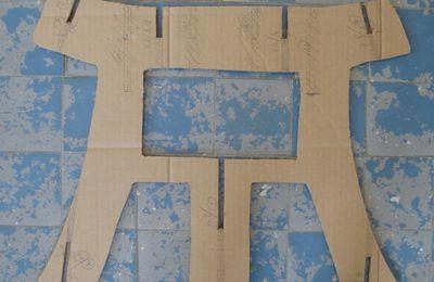 tabouret en carton