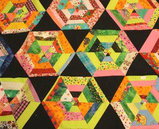 Mon patchwork kaléidoscope: essais de bordures