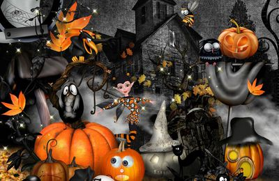 """HALLOWEEN PUMPKINS"" by kitty scrap"