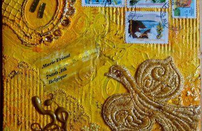 """Mail Art Août - Incartades """"Du jaune...que du jaune...rien que du jaune"""""""
