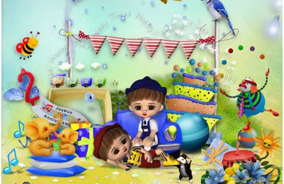 The birthday twins de Tinker scrap