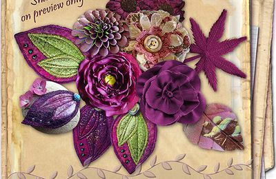 CU FABRIC & FLOWERS AND LEAVES PACKS 1 A 8 desclics