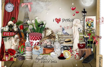 Kit Paris je t'aime by Letiscrap