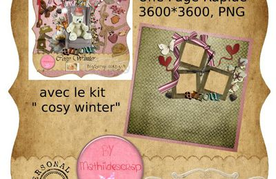 Page rapide Cosy winter FREEBIE