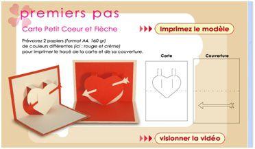 Carte petit coeur + couverture en Kirigami