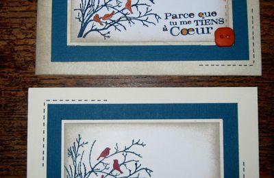 deux cartes de condoléances