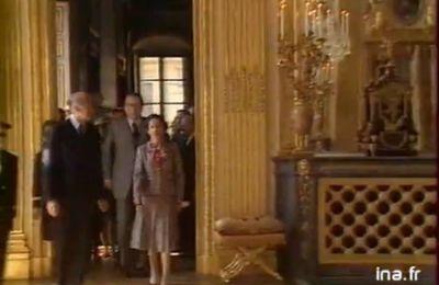 09 juin 1980: Versailles Inauguration de la chambre du Roi et de la galerie des Glaces restaurées