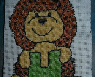 ABC animaux, le H ...broderie main et machine, cross stitch free.