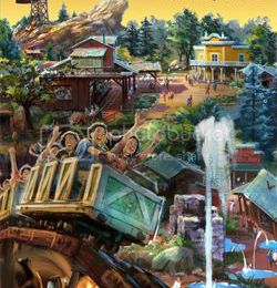 Big Grizzly Mountain Runaway Mine Cars en Simulation