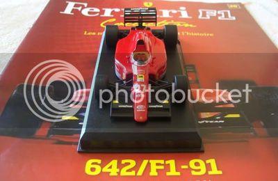 Ferrari F1-91 d'Alain Prost (N°28 de la Collection Fabbri Ferrari F1)