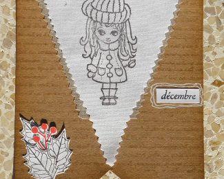Une guirlande de fanions pour Noël