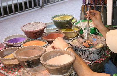 fabrication des bouteilles de sable