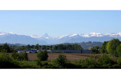 Sur la voie d'Arles, vue sur les Pyrénées