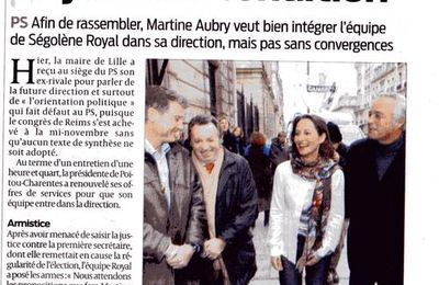 Doudou de Martine Aubry, dans le camp Royal, on rigole !