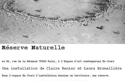 Réserve Naturelle : installation de Claire Renier et Laura Brunellière à En Cours, avec une marche organisée vers la petite ceinture de Paris
