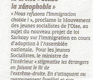 Article du Courrier Picard du 9 mai 06