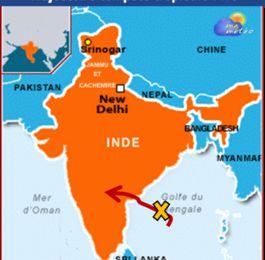 [Inde] La tempête tropicale Five menace la province d'Andhra Pradesh