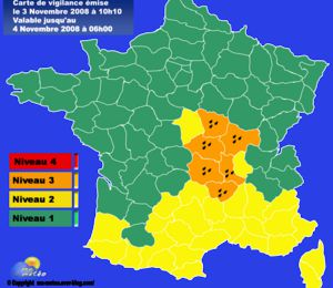 [Vigilance orange] Risque important d'inondations (Loire, Allier)