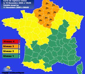 [Vigilance orange] Violentes rafales de vent sur le nord dans la nuit