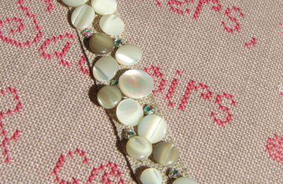bracelet lin de nacre