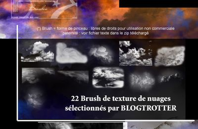 Brushs PHOTOSHOP Gratuits : NUAGES