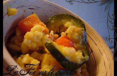 Paella de légumes.