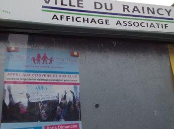 Au Raincy, affichage associatif ou affichage politique ?