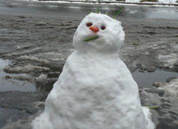 Bonhomme de neige au Raincy