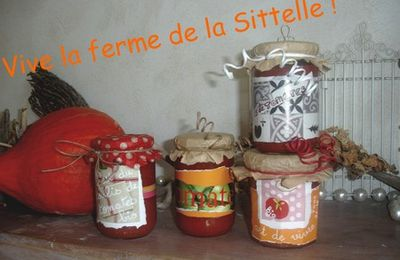 Pots de coulis de tomates customisés