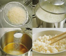 Préparation du riz...