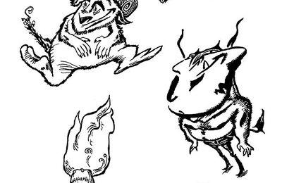 Brochette de personnages