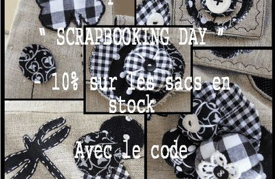 "- 10% spécial "" SCRAPBOOKING DAY "" ."