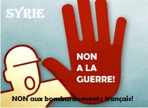 Non à la guerre française en Syrie!