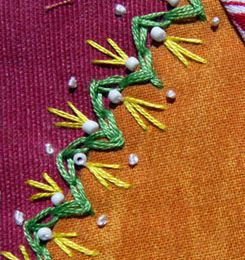 Quilt crazy, habillage / Crazy quilt, another embroidery