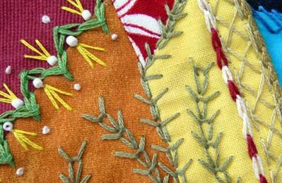 Quilt crazy, épis de blé / Crazy quilt, wheat ear