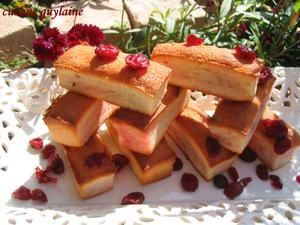 financiers aux cranberries et au coquelicot