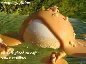 Parfait glacé au café sauce caramel