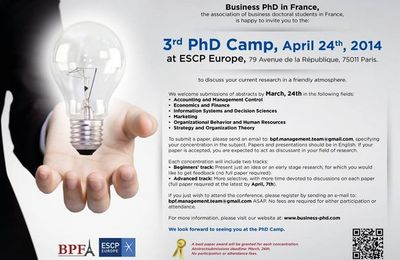 Call for Papers : 3rd PhD Camp, April 24th, 2014