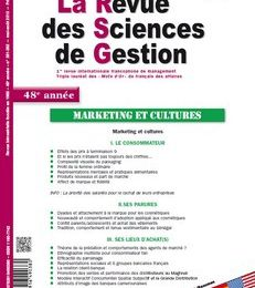 n°261-262 La Revue des Sciences de Gestion - Editorial par Philippe Naszalyi : Marketing et Cultures