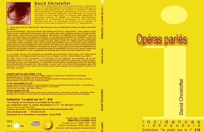 "CD# 18 ""opéras parlés"" David Christoffel"