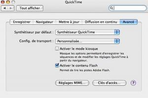 Plus de lecture flash dans safari