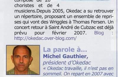 Extrait du bulletin municipal d'octobre 2006